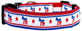 "Political Dog Collar 1"" Wide (matches Political Leash) (Size: Large)"