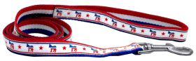 "Political 4ft leash 1"" Wide (matches political collars) (Size: 4 foot leash)"