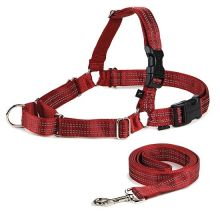 Reflective Easy Walk Harness (Color: Red, Size: Medium / Large)