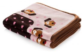 "Snuggle Dog Blanket (Color: Pink, Size: 48"" x 32"")"