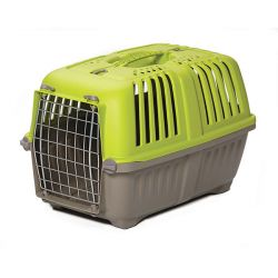 "Spree Plastic Pet Carrier (Color: Green, Size: 18.875"" x 12.75"" x 12.75"")"